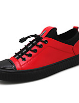 cheap -Men's Shoes PU(Polyurethane) Fall Light Soles Sneakers Black / Gray / Red