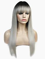 Недорогие -Парики из искусственных волос Прямой Стрижка каскад Искусственные волосы 100% волосы канекалона Омбре Парик Жен. Длинные Парик из