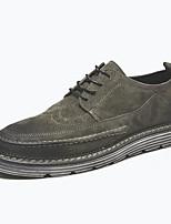Недорогие -Муж. обувь Кожа Весна / Осень Удобная обувь Туфли на шнуровке Желтый / Темно-серый