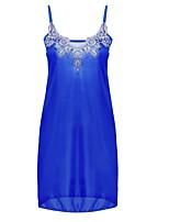 abordables -Chemises & Blouses Vêtement de nuit Femme - Fleur, Couleur Pleine / Fleur / Broderie