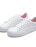 Недорогие -Жен. Обувь Искусственное волокно Весна Удобная обувь Кеды На низком каблуке Черный / Синий / Розовый