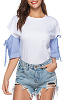 cheap -Women's Going out Cute T-shirt - Color Block