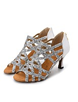 baratos -Mulheres Sapatos de Dança Latina Glitter / Sintético Sandália / Salto Espetáculo / Profissional / Ensaio / Prática Gliter com Brilho