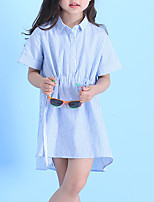 abordables -Enfants Fille Rayé Manches Courtes Robe