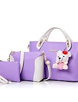 cheap -Women's Bags PU Bag Set 3 Pcs Purse Set Zipper Purple / Fuchsia / Royal Blue