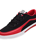 cheap -Men's Shoes Fabric / PU Fall Comfort Sneakers White / Black / Black / Red