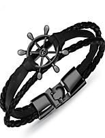 preiswerte -Herrn 1 Armreife - Retro Geometrische Form Silber Braun Kühlweiß Armbänder Für Geschenk Alltag