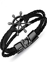 cheap -Men's 1 Bangles - Vintage Geometric Silver Brown Cool White Bracelet For Gift Daily