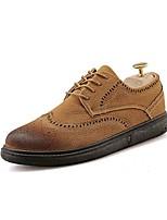 Недорогие -Муж. обувь Искусственное волокно / Полиуретан / Дерматин Осень Удобная обувь Туфли на шнуровке Черный / Серый / Желтый