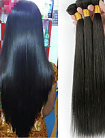 cheap -Malaysian Hair Straight Natural Color Hair Weaves / Extension / Human Hair Extensions 4 Bundles Human Hair Weaves Soft / Classic / Hot Sale Natural Black Human Hair Extensions Women's