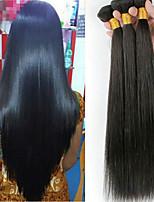 baratos -Cabelo Malaio Liso Cabelo Humano Ondulado / Extensor / Extensões de Cabelo Natural Tramas de cabelo humano Macio / Clássico / Venda
