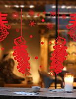abordables -Film de fenêtre et autocollants Décoration Style Folk Vacances PVC Autocollant de Fenêtre / Gravure ajourée