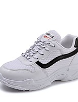cheap -Women's Shoes Tulle Summer Comfort Sneakers Flat Heel Round Toe for Casual White Black