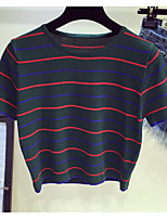 economico -T-shirt Per donna Essenziale A strisce
