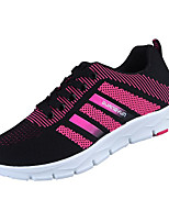 cheap -Women's Shoes PU Spring Fall Comfort Sneakers Flat Heel for Casual Black Blue Pink