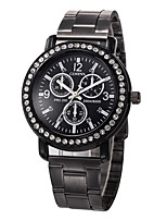 cheap -Men's Sport Watch Chinese New Design / Chronograph / Creative Stainless Steel Band Luxury / Sparkle Black / Silver