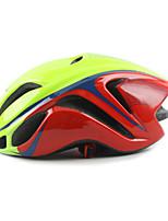 abordables -Casque de vélo 21 Aération CE Certification Équipement de Sécurité, Poids léger EPS Camping / Cyclisme - Adultes Rose + Vert. / Noir /