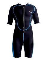 cheap -Men's Shorty Wetsuit 3mm CR Neoprene Diving Suit Anatomic Design Half Sleeve Front Zip Patchwork Summer