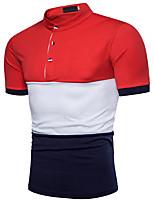 cheap -Men's Basic Polo - Color Block
