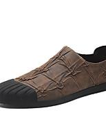 Недорогие -Муж. обувь Искусственное волокно Весна Удобная обувь Мокасины и Свитер Черный / Кофейный / Коричневый