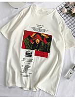 cheap -Women's Basic T-shirt - Portrait / Letter Print