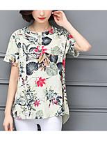 economico -T-shirt Per donna Vintage Schiena scoperta, Tinta unita In bianco e nero