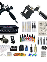cheap -BaseKey Tattoo Machine Starter Kit - 2 pcs Tattoo Machines with 7 x 15 ml tattoo inks, Professional, Kits Alloy LCD power supply Case Not Included 20 W 2 rotary machine liner & shader