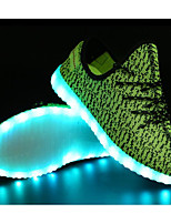 cheap -Men's Shoes Tulle Spring Comfort / Light Up Shoes Sneakers Black / Red / Green