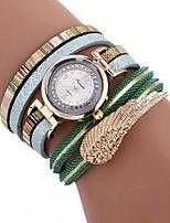 baratos -Mulheres Bracele Relógio Chinês imitação de diamante / Relógio Casual PU Banda Casual / Fashion Preta / Branco / Azul