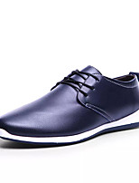 cheap -Men's Shoes Nappa Leather Spring Summer Comfort Oxfords for Outdoor Black Brown Blue