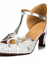 cheap -Women's Modern Shoes Paillette Heel Performance / Practice Stiletto Heel Dance Shoes Gold / Silver