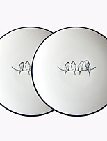 cheap -2pcs Porcelain Creative Dinner Plate, Dinnerware