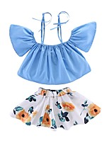 cheap -Kids Girls' Galaxy Short Sleeves Clothing Set