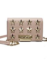 cheap -Women's Bags PU Shoulder Bag Rivet Red / Blushing Pink / Khaki