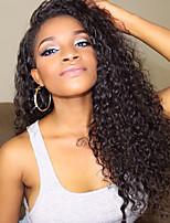 cheap -Virgin Human Hair Wig Brazilian Hair Curly Layered Haircut 130% Density With Baby Hair For Black Women Black Short Long Mid Length Women's