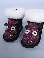 cheap -Girls' Shoes Feather / Fur Winter Snow Boots Boots for Outdoor Black Yellow