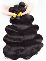 cheap -Brazilian Hair Wavy Natural Color Hair Weaves / Human Hair Extensions Gift Bag 8-28 inch Human Hair Weaves Capless Best Quality / Hot Sale / For Black Women Natural Black Human Hair Extensions Women's