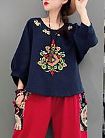 cheap -Women's Cotton T-shirt - Geometric