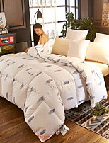 cheap -Comfortable - 1pc Bedspread Winter White Goose Down Geometric