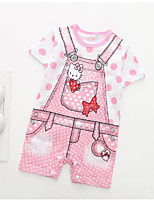cheap -Baby Unisex Print Short Sleeve Romper
