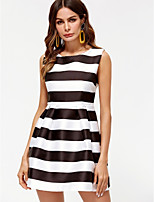 cheap -Dreamy Land Women's Sheath Dress Black & White Mini