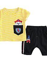 Недорогие -Дети (1-3 лет) Мальчики Полоски С принтом С короткими рукавами Набор одежды