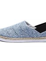Недорогие -Муж. обувь Полиуретан Осень Удобная обувь Мокасины и Свитер для на открытом воздухе Черный Синий Хаки