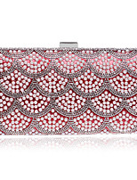 cheap -Women's Bags Pearl / Rhinestones Evening Bag Crystals / Pearls for Wedding / Event / Party Black / Silver / Red