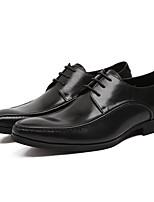 Недорогие -Муж. обувь Наппа Leather / Кожа Осень Удобная обувь Туфли на шнуровке Черный