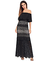 cheap -TS - Dreamy Land Women's going out loose shift dress - solid colored maxi boat neck