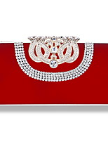 cheap -Women's Bags Rhinestones / Velvet Evening Bag Rivet / Crystals for Wedding / Event / Party Black / Red / Purple