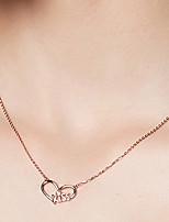 abordables -Femme S925 argent sterling / Dorage 18K Pendentif de collier / Colliers chaînes - Métallique / simple / Décontracté Béni BLESSED / LOVE