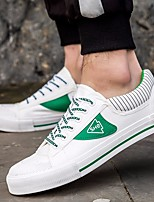 cheap -Men's Shoes Canvas Fall Comfort Sneakers White / Black / Green