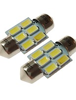 cheap -SENCART T10 Car Light Bulbs 3W SMD 5730 180lm 6 LED Light Bulbs Interior Lights For universal All years